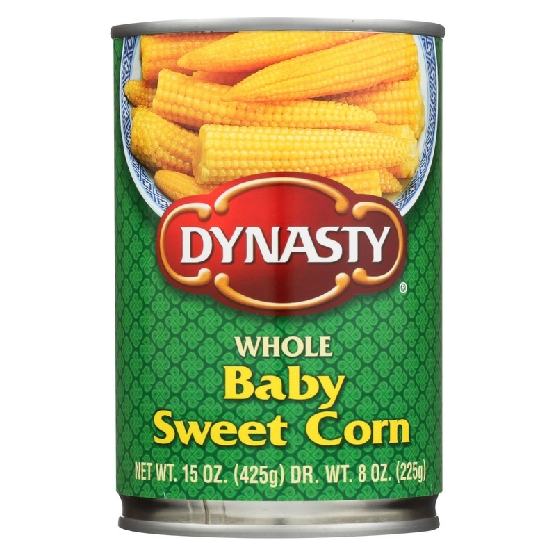 Dynasty Whole Baby Sweet Corn - 15 Oz.