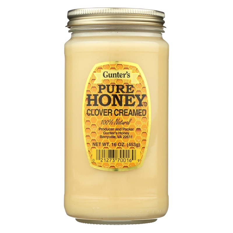 Gunter Pure Clover Creamed Honey - Case Of 12 - 16 Oz.