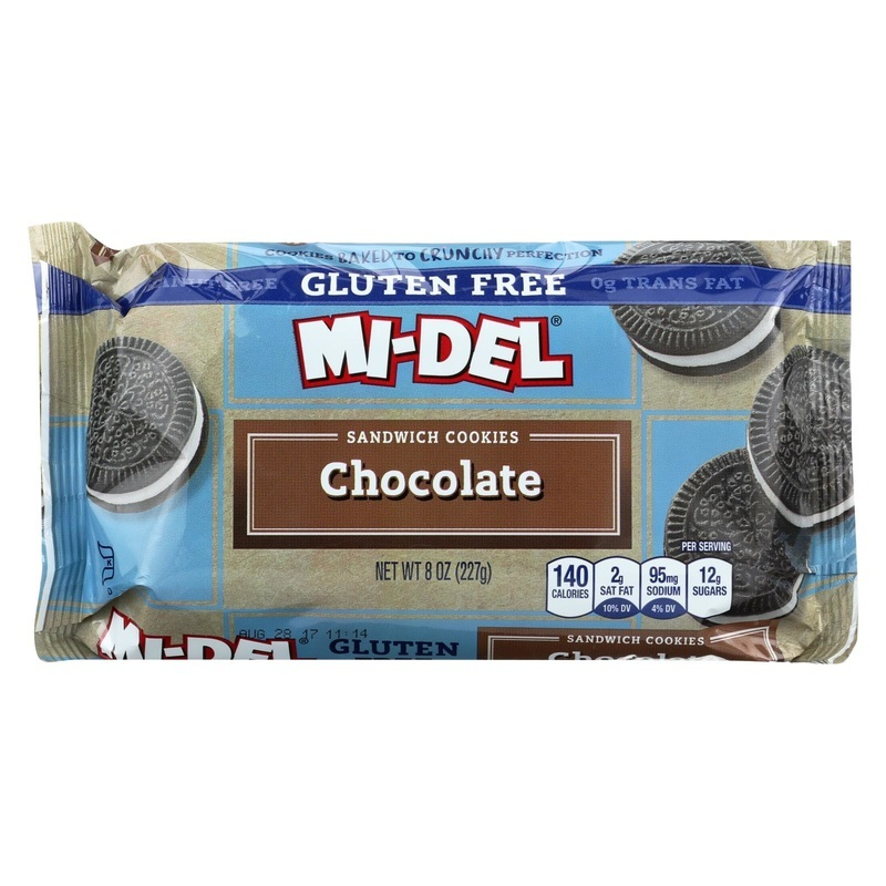 Midel Sandwich Cookie - Chocolate - Case Of 12 - 8 Oz.