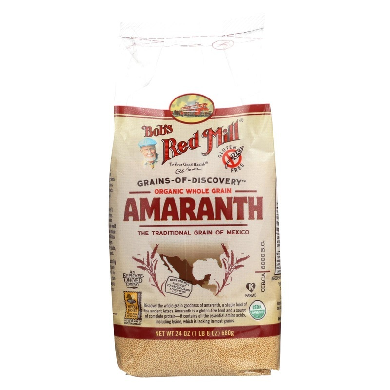 Bob's Red Mill Organic Whole Grain Amaranth - 24 Oz - Case Of 4