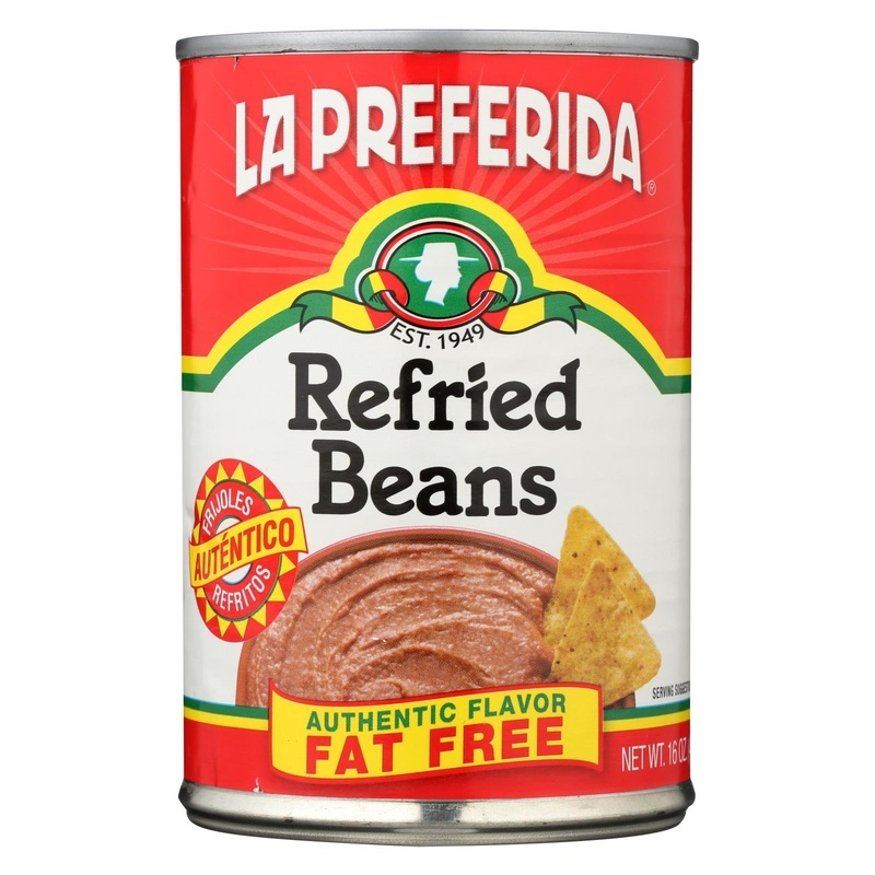 La Preferida Refried Beans - Fat Free - Case Of 12 - 16 Oz