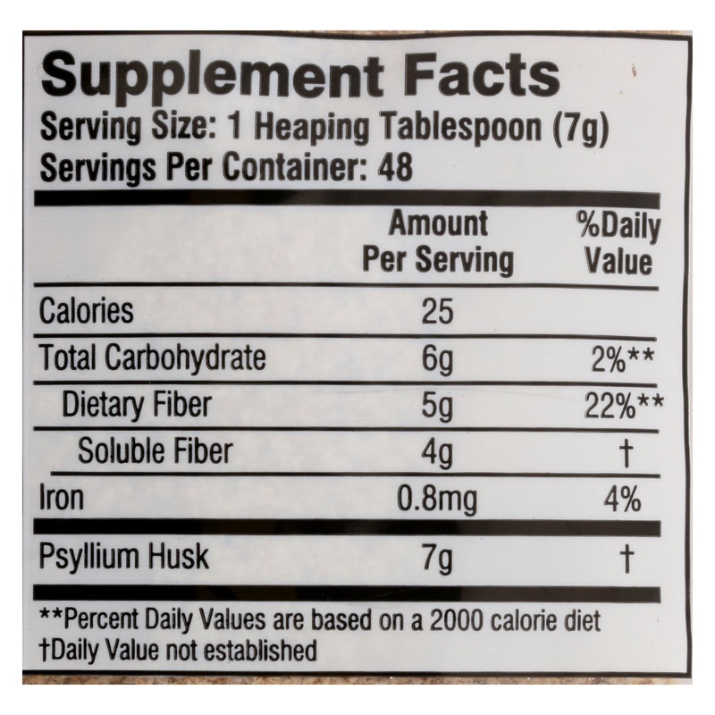 Health Plus Pure Psyllium Husk - 12 oz