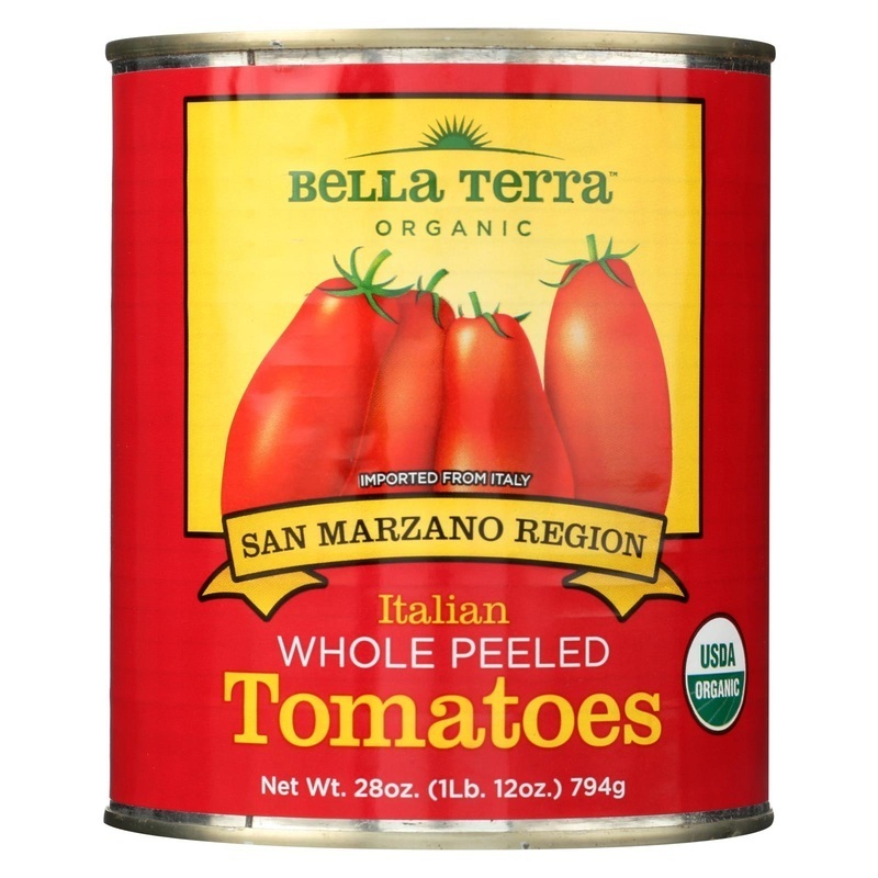 Bella Terra Organic Italian Whole Peeled Tomatoes - San Marzano - 28 Oz.
