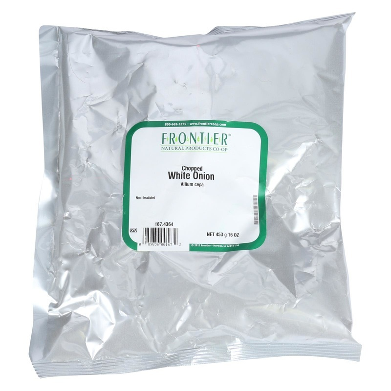Frontier Herb Onion - Chopped - White - Bulk - 1 Lb