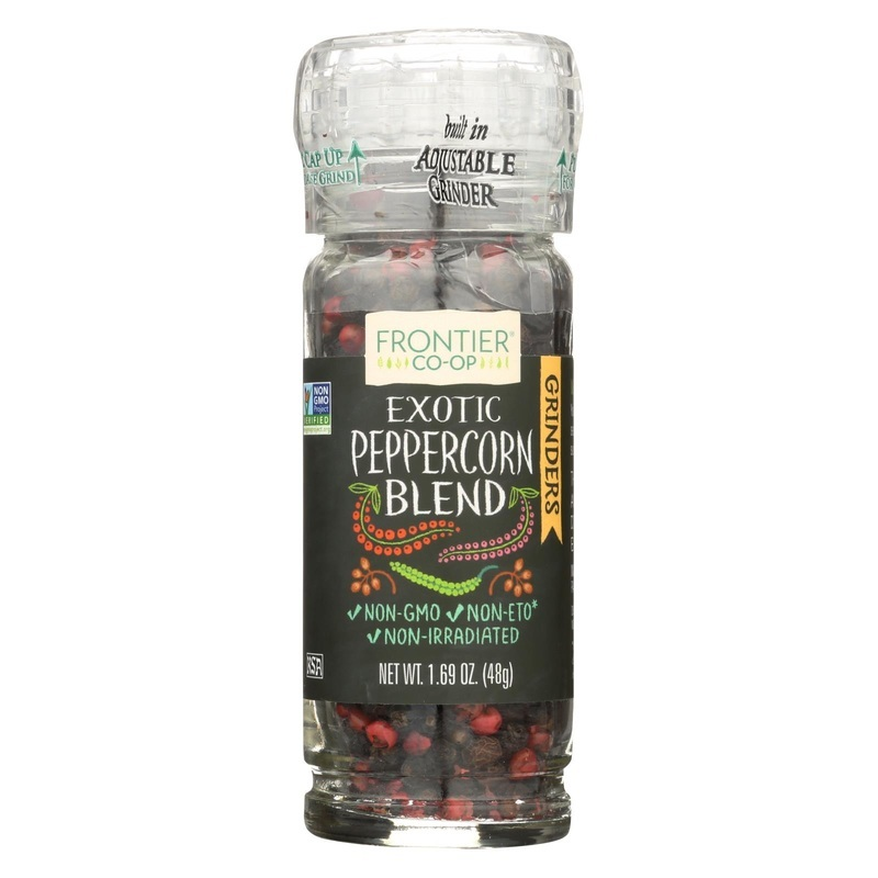 Frontier Herb Peppercorns - Exotic Blend - Grinder Bottle - 1.69 Oz - Case Of 6