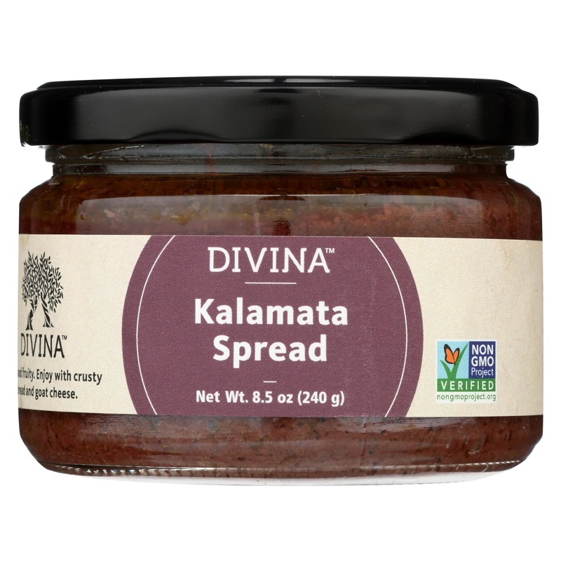 Divina Kalamata Olive Spread - Case Of 6 - 8.5 Oz.