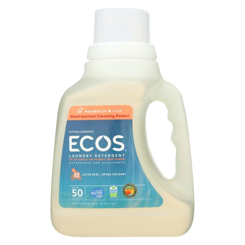 Earth Friendly 2x Ultra Laundry Detergent - Magnolia And Lily - Case Of 8 - 50 Fl Oz.