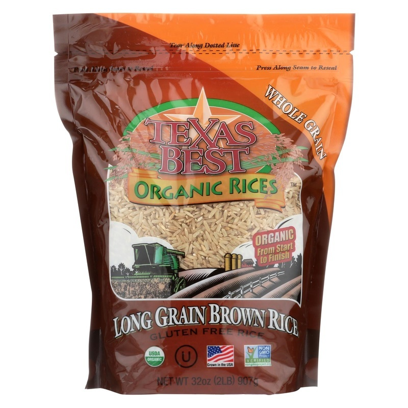 Texas Best Organics Rice - Organic - Long Grain Brown - 32 Oz - Case Of 6