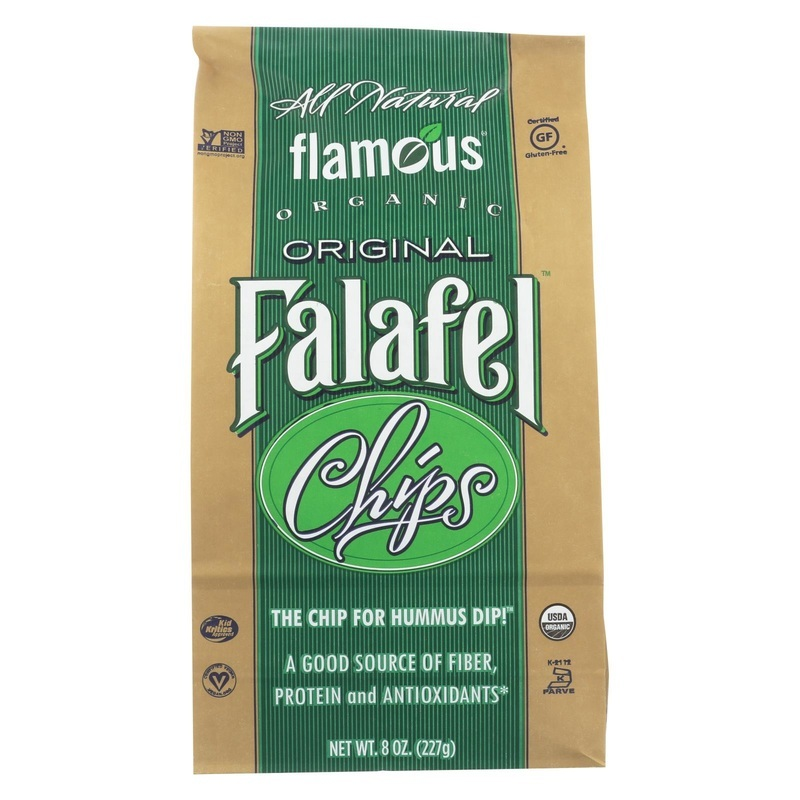 Flamous Brands Flamous Falafel Chip - Low Sodium - Case Of 12 - 8 Oz.