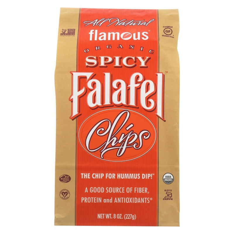Flamous Brands Flamous Falafel Chip - Spicy - Case Of 12 - 8 Oz.