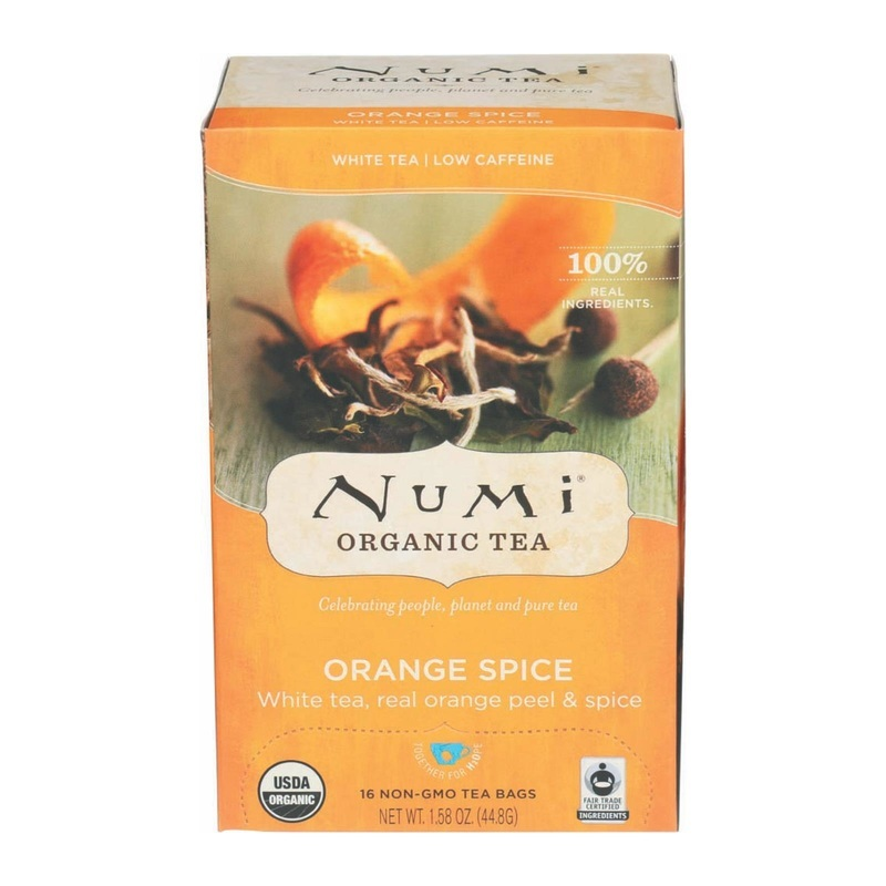 Numi Tea Organic White Tea - Orange Spice - Case Of 6 - 16 Bag