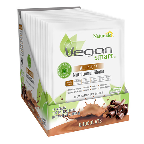 Naturade VeganSmart All-In-One Nutritional Shake - Chocolate - 1.62 oz - Case of 12