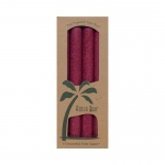 Aloha Bay Palm Tapers Burgundy - 4 Candles