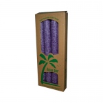 Aloha Bay Palm Tapers Violet - 4 Candles