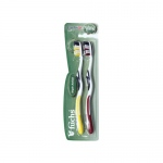 Fuchs Triple Action Toothbrush - Extra Soft - Case of 12 - 2 Pack