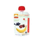 Happy Baby Organic Baby Food - Stage 2 - Banana Beets and Blueberry - Case of 16 - 3.5 oz