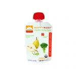 Happy Baby Organic Baby Food - Stage 2 - Broccoli Peas and Pears - Case of 16 - 3.5 oz