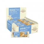Think Products Thin Crunch Bar - White Chocolate Nut - Case of 10 - 1.41 oz