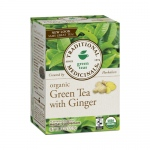 Traditional Medicinals Organic Green Tea with Ginger - Case of 6 - 16 Bags