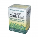 Traditional Medicinals Organic Nettle Leaf Herbal Tea - 16 Tea Bags - Case of 6