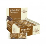 Think Products Thin Crunch Bar - Chocolate Dipped Nut - Case of 10 - 1.41 oz