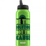 Sigg Water Bottle - Cuipo Be The Solution Not The Cause  - 1 Liter - Case of 6