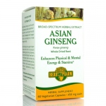 Herb Pharm Asian Ginseng - Whole Dried Root - 450 mg - 60 Veg Capsules