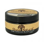 Shea Natural African Black Soap with Shea Butter - 8 oz